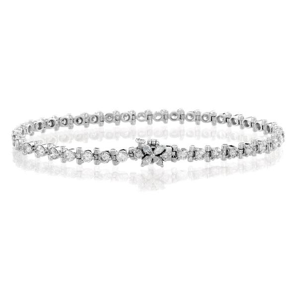 BRILLMOND 為愛璀璨滿鑽手鍊-鑽石總重3克拉