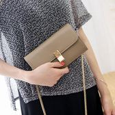 手拿包 包包女韓版女士錢包長款手拿包側背斜挎包手機鍊條包女潮 【瑪麗蘇】
