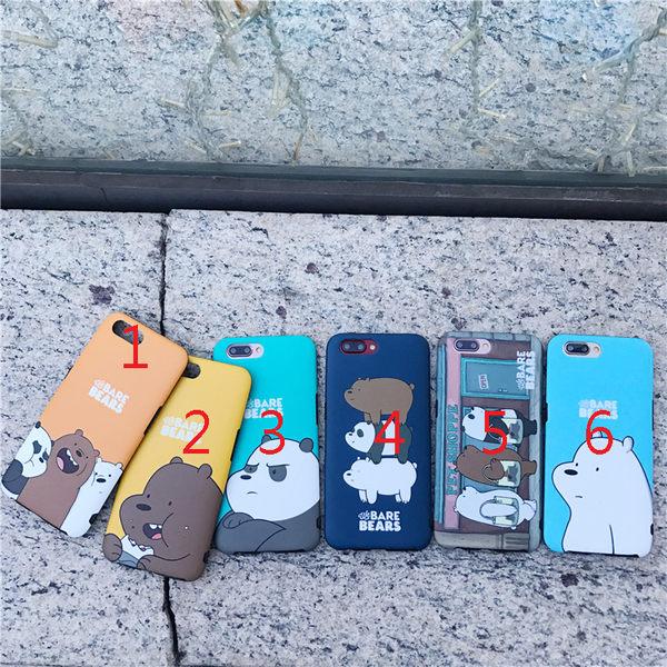 88柑仔店--日韓可愛卡通裸熊系列oppor9手機殼全包r9 plus防摔硅膠軟殼