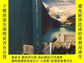 二手書博民逛書店英文原版書:Hospitality罕見Today An Intr