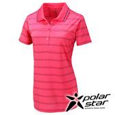 PolarStar 濕排汗抗UV短袖POLO衫 女『粉紅』戶外│休閒│登山│露營 │吸濕排汗│防曬衣 P16132