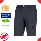 【MAMMUT 長毛象 男 Hiking Shorts 短褲《黑》】1023-00120/休閒運動褲/彈性透氣/輕量機能