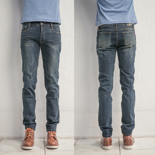 台灣製質感鬼洗暈染超修身牛仔褲