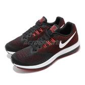 【海外限定】 Nike 慢跑鞋 Zoom Winflo 4 黑 紅 男鞋 運動鞋 【PUMP306】 898466-006