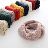 兒童秋冬新款韓版女童套頭圍脖男童小孩保暖針織毛線圍巾 ysj151【時尚玩家】