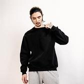 長袖T恤-純色後背簡約字母印花男上衣2色73pr4[巴黎精品]