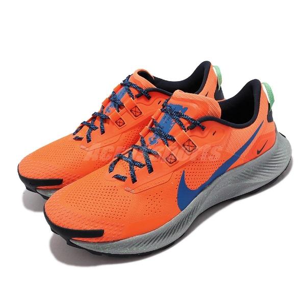Nike 越野跑鞋 Pegasus Trail 3 橘 藍 男鞋 戶外款 運動鞋 【ACS】 DA8697-800