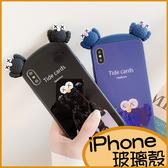 毛絨人iPhone11 Promax手機殼 iPhoneXR保護殼 iPhone8 Plus手機套 i7Plus保護套 iPhone6s Plus玻璃殼