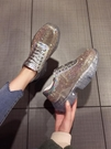 歐洲站新款網紅宋茜同款厚底水晶透明底潮鞋...