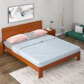 實木床 實木床1.8米臥室雙人床北歐現代簡約原木全實木兒童床1.5米加厚粗