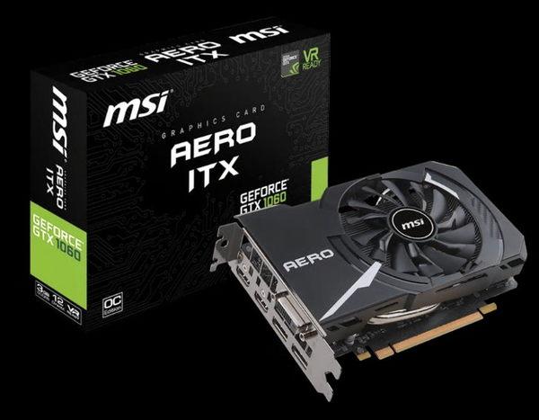 微星GeForce GTX 1060 AERO ITX 3G OC PCI-E顯示卡