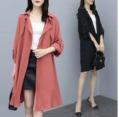 薄外套空調衫防曬衫小外套XL-3XL中大尺碼中長款長版衣R04.9052依品國際