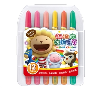 奶油獅12色旋轉蠟筆