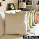 加厚亞麻布藝抱枕客廳大號靠墊沙發辦公室床頭靠枕套腰枕簡約靠背