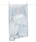 美國Little Giraffe 【天鵝絨豪華系列】天鵝絨豪華嬰兒毛毯-藍色