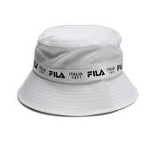 FILA 漁夫帽 白 串標 棉 遮陽 休閒 筒帽 (布魯克林) HTV1204WT
