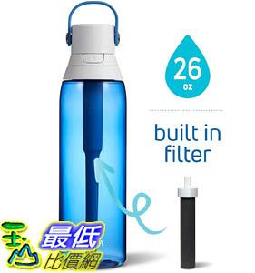 [9美國直購] Brita 過濾水瓶 Premium Filtering Water Bottle, 26 Ounce, Sapphire B07H1DXMWD