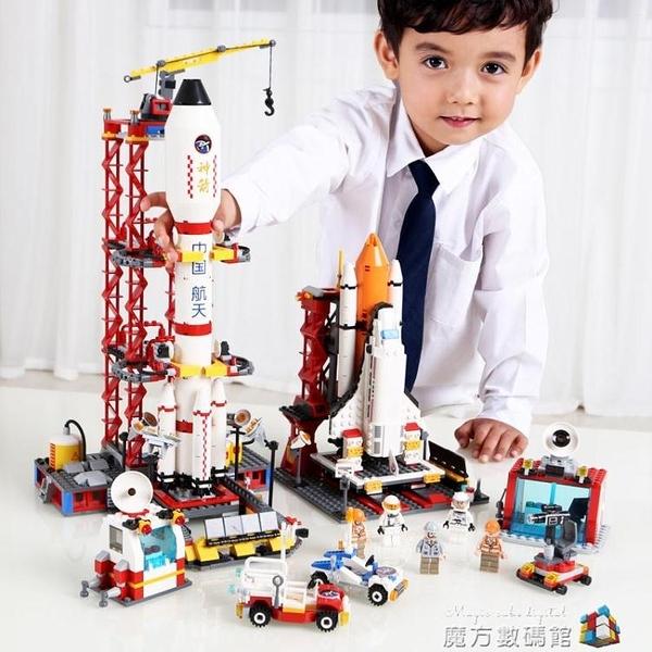 航天飛機火箭模型拼裝玩具拼插積木益智大童男孩6-8-10歲生日禮物 魔方數碼
