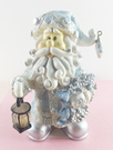 【震撼精品百貨】聖誕節佈置商品-聖誕吊飾-飾品/擺飾-藍銀白色-拿燈