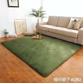 現代房間臥室滿鋪家用法蘭絨加厚地毯客廳茶幾沙發吸塵可手洗定制ATF 青木铺子