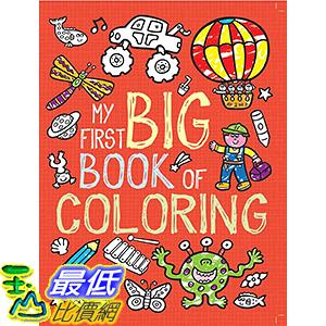 [106美國直購] 2017美國暢銷兒童書 My First Big Book of Coloring Paperback