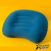 【PolarStar】旅行吹氣枕 充氣枕.午睡枕.旅行枕.飛機枕.靠腰枕.辦公室.攜帶方便- P17736 『藍色』