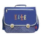 Backbager 背包族【ELLE Petite】輕量字母系列背包/書包/橫式書包_藍色