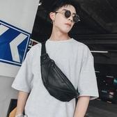 潮男皮質小包胸包 休閒運動便攜帶男士小腰包側背後背包 黛尼時尚精品