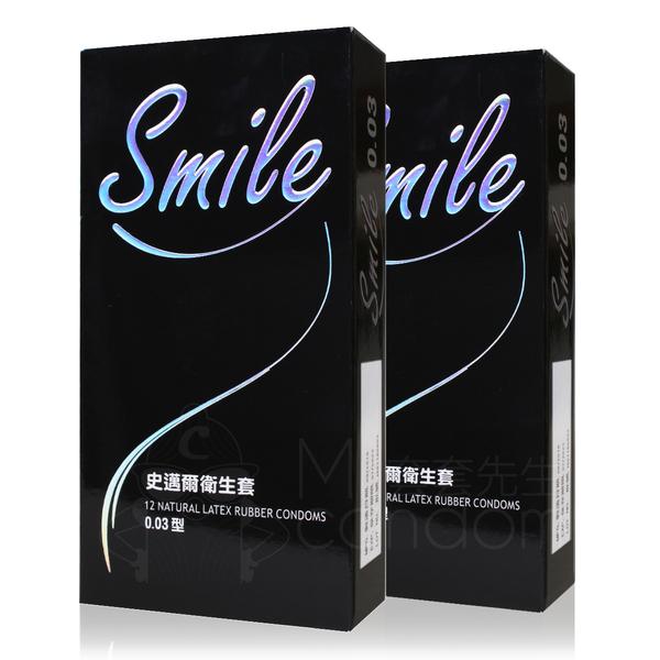 2入組 Smile 史邁爾 003衛生套 12片 保險套 【套套先生】螺紋 超薄