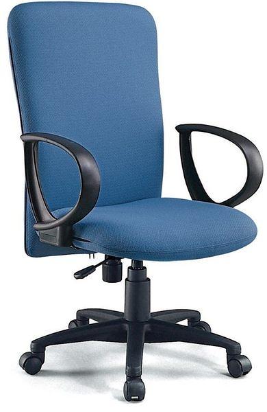 HY-Y182-4  高背辦公椅(藍布/PU泡棉)
