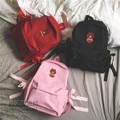 大容量雙肩包女韓版潮書包女ulzzang 高中學生背包帆布包「尚美潮流閣」