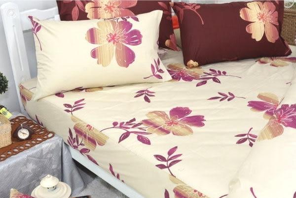 粉影雕花(米)、100% 精梳棉 【床包6X6.2尺/枕套X2/雙人被套(無鋪棉)】4件組 台灣製