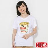 CHUMS 日本 女 Booby薯條短袖圓領T恤 白 CH111213W001