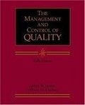二手書博民逛書店 《The management and control of quality》 R2Y ISBN:0324066805│Evans,James.R