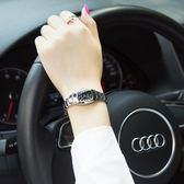 手錶女學生韓版簡約時尚潮流女士手錶防水鎢鋼色石英女表腕表   圖拉斯3C百貨