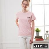 【JEEP】網路限定 簡約美國風素面短袖TEE-男女適穿-粉