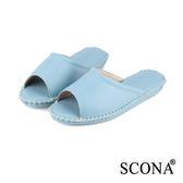SCONA 全真皮 手縫舒適室內鞋 淺藍色 (女) 9998-7