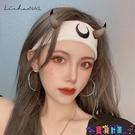 針織髮帶 髮帶刺繡月亮針織彈力韓國網紅健身髮帶不勒運動吸汗男女頭巾髮箍 寶貝計畫 618狂歡