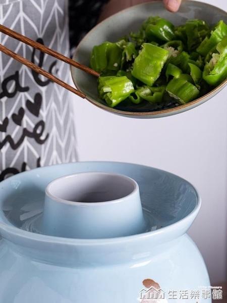 景德鎮泡菜壇子腌菜土陶罐家用腌咸菜陶瓷酸菜小密封泡菜壇泡菜罐 NMS生活樂事館