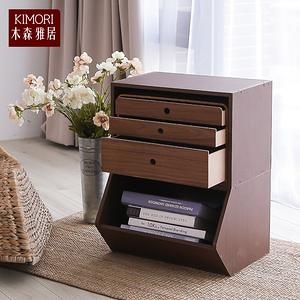 【木森雅居】KIMORI S-Cabinet可堆疊玩具櫃/收納櫃淺胡桃木色款