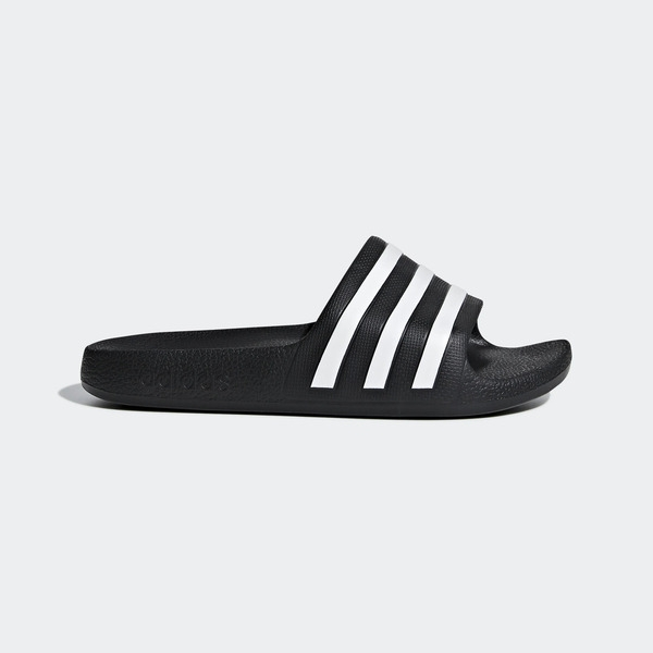 Adidas Adilette Aqua K [F35556] 大童鞋 涼鞋 拖鞋 休閒 舒適 輕量 游泳 愛迪達 黑白