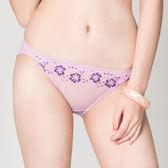思薇爾-戀衣蝶舞系列M-XL蕾絲低腰三角內褲(紫丁香)