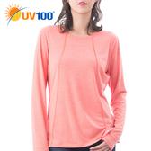 UV100 防曬 抗UV-彈性舒適針織上衣-女