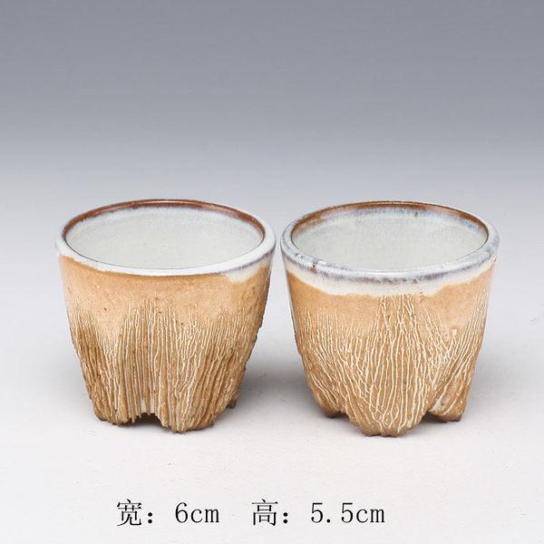 高腳足杯~小口杯~均陶特釉~全手工紫砂坯茶杯