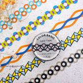 【BlueCat】鏤空彩色花邊系列和紙膠帶 手帳裝飾貼