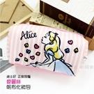 ☆小時候創意屋☆ 迪士尼 正版授權 粉 方塊 愛麗絲 系列 帆布 化妝包 鉛筆盒 收納包 行動電源包