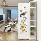 客廳玄關隔斷屏風隔斷行動屏風折屏雕花鏤空隔斷歐式簡約現代折疊MBS『潮流世家』