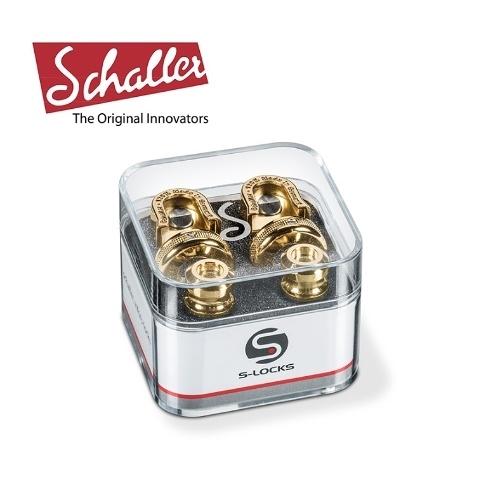 【敦煌樂器】Schaller S-Locks 吉他安全背帶扣 香檳金色款