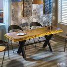 【森可家居】泰森6尺原木餐桌(不含椅) 7JF460-1