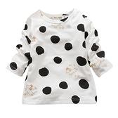 長袖上衣 圓點卡通 長袖T恤 棉質兒童上衣 長袖童裝 CA3610 好娃娃